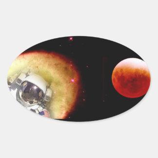 spacewalker oval sticker