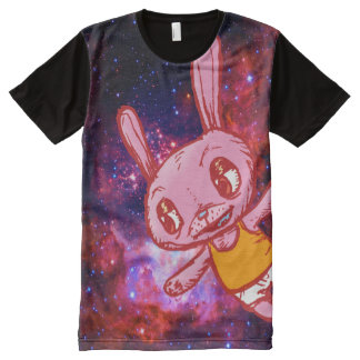 Spacey Bunny Rabbit All Over Print T-Shirt