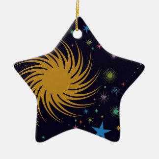 Spacey Ceramic Ornament