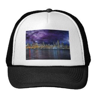 Spacey Chicago Skyline Trucker Hat