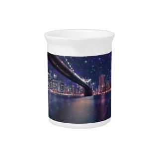 Spacey Manhattan Skyline Beverage Pitcher