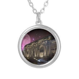 Spacey Metropolitan Museum Silver Plated Necklace