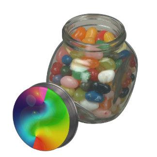 Spacey Nebula Rainbow Glass Candy Jars