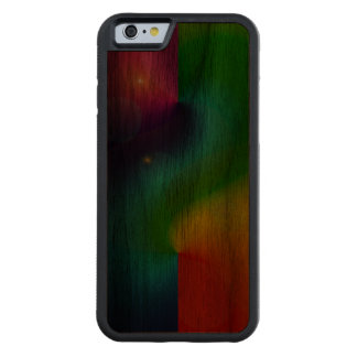 Spacey Nebula Rainbow Carved® Walnut iPhone 6 Bumper Case
