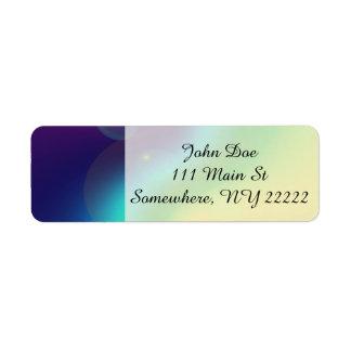 Spacey Nebula Rainbow Return Address Label