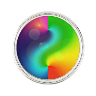 Spacey Nebula Rainbow Lapel Pin