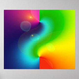 Spacey Nebula Rainbow Poster