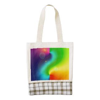 Spacey Nebula Rainbow Zazzle HEART Tote Bag