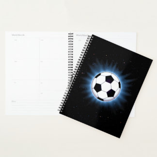 Spacey Soccer Ball Spiral Planner
