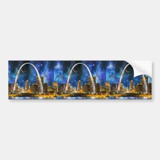 Spacey St. Louis Skyline Bumper Sticker