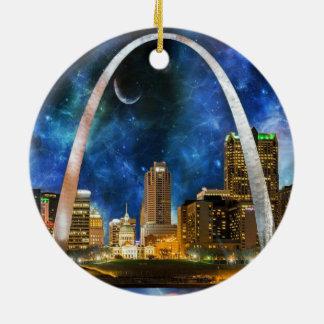 Spacey St. Louis Skyline Ceramic Ornament