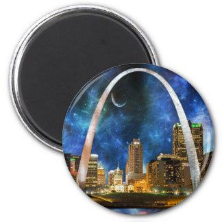 Spacey St. Louis Skyline Magnet