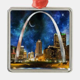 Spacey St. Louis Skyline Metal Ornament
