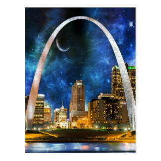 Spacey St. Louis Skyline Postcard