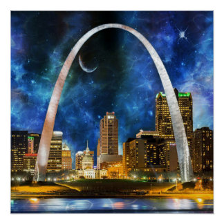 Spacey St. Louis Skyline Poster