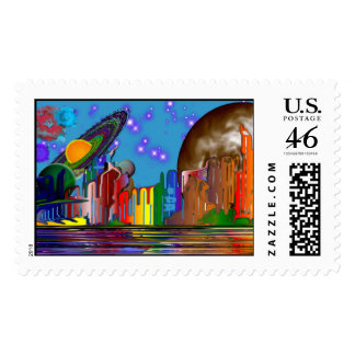 Spacial Harmony6 Postage Stamps