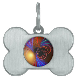 Spacy Abstract Pet Tags