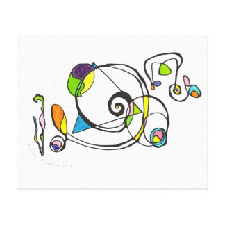 Spacy Line Design Gallery Wrapped Canvas