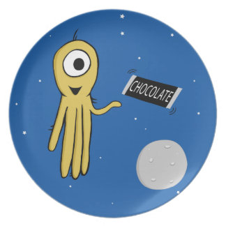 spacy octopus with chocolate bar plate