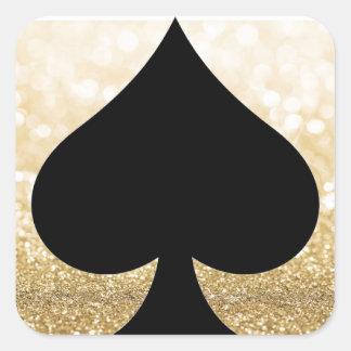 Spade & Gold Glitter Sticker