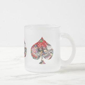 Spade - Las Vegas Playing Card Shape Frosted Glass Coffee Mug