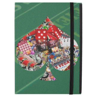 Spade - Las Vegas Playing Card Shape iPad Pro Case