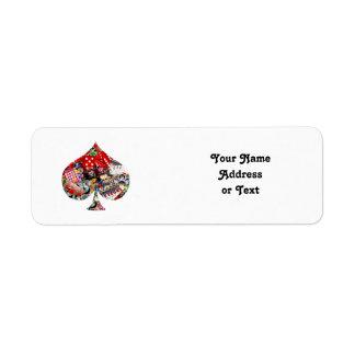 Spade - Las Vegas Playing Card Shape Labels