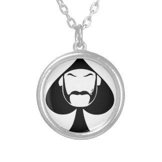 Spade Man Silver Plated Necklace
