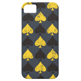 Spade Pattern (Black & Yellow) iPhone 5 Cases