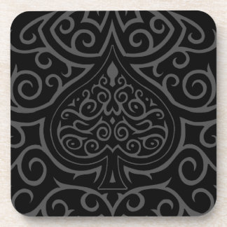 Spade & Scrollwork Drink Coasters
