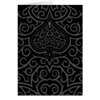 Spade & Scrollwork Greeting Card