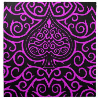 Spade & Scrollwork - Pink Cloth Napkins