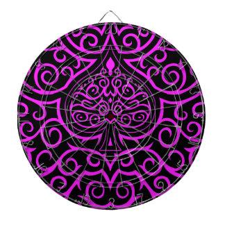 Spade & Scrollwork - Pink Dart Boards