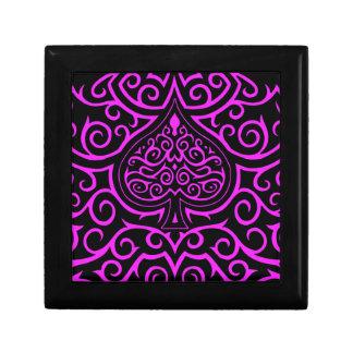 Spade & Scrollwork - Pink Jewelry Box