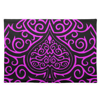 Spade & Scrollwork - Pink Place Mat