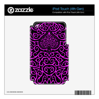 Spade & Scrollwork - Pink iPod Touch 4G Decals