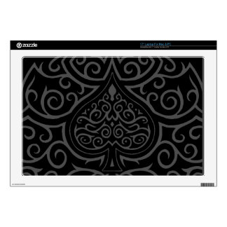 Spade & Scrollwork Decal For Laptop