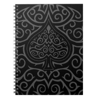 Spade & Scrollwork Spiral Note Book