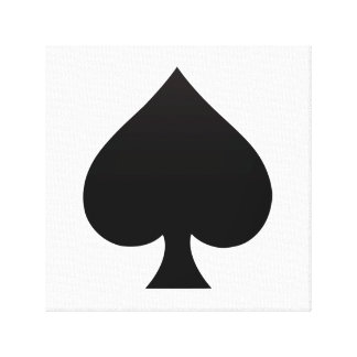 Spade - Suit of Cards Icon Canvas Print