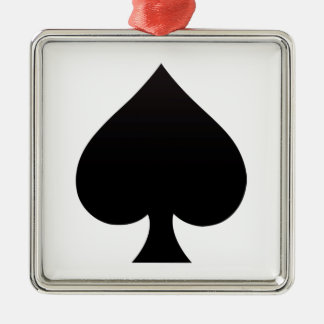 Spade - Suit of Cards Icon Metal Ornament