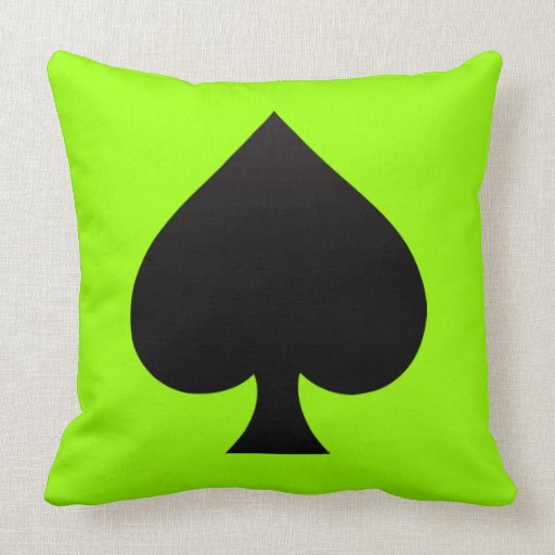 Spade - Suit of Cards Icon Throw Pillow