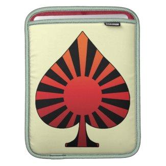 Spade sun rising iPad sleeve