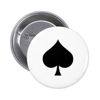 Spade Symbol Button