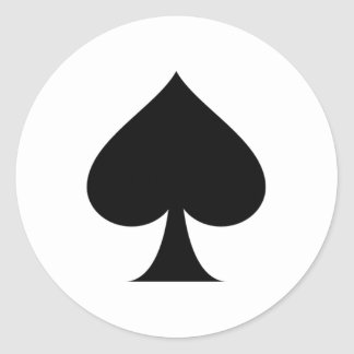 Spade symbol classic round sticker