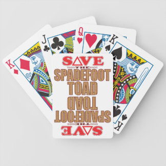 Spadefoot Toad Save Bicycle Playing Cards