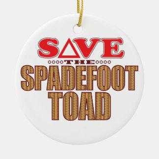 Spadefoot Toad Save Ceramic Ornament