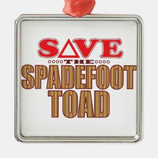 Spadefoot Toad Save Metal Ornament