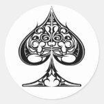 Spades Classic Round Sticker