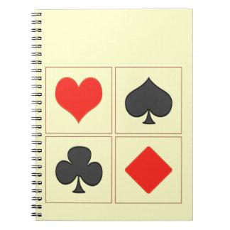Spades, heart, Karo and cross Notebook