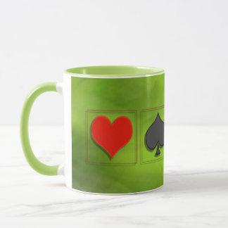 Spades heart Karo cross - cup